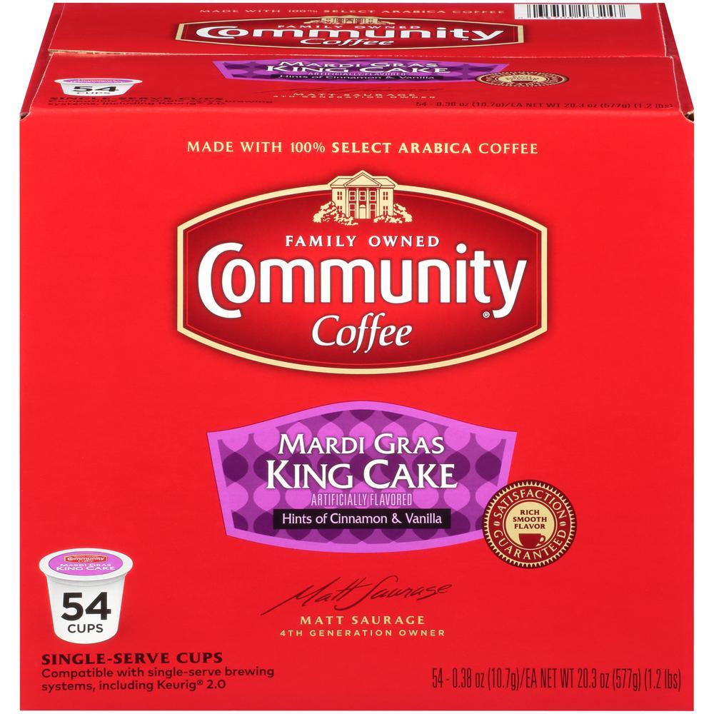 Mardi Gras King Cake Medium Roast Single Serve Cups (54-Pack)