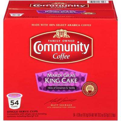 Mardi Gras King Cake Medium Roast Single Serve Cups (54-Pack)