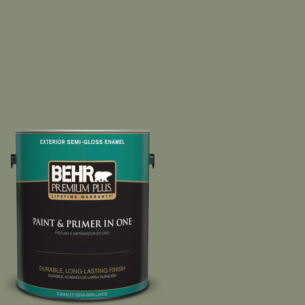 1 gal. #PPU10-17 Aloe Thorn Semi-Gloss Enamel Exterior Paint
