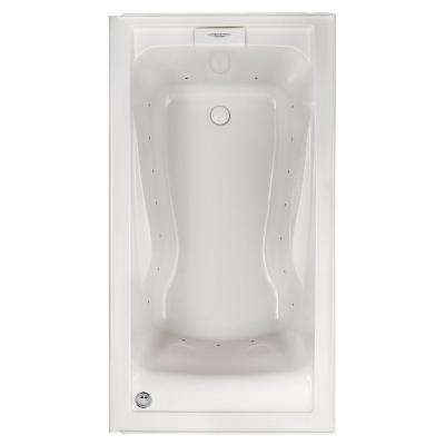 Evolution 60 in. x 32 in. Left Drain EverClean Air Bath Tub with Integral Apron in White