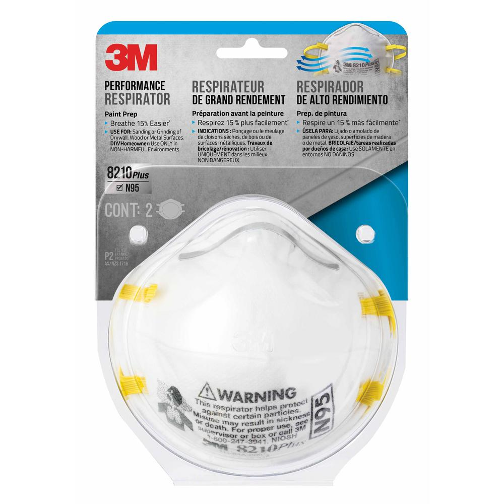 3M N95 Paint Sanding Respirator Mask ((2-Pack) (Case of 12 ...