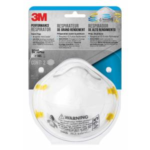 12 Of - Sanding The Paint Mask 2-pack Depot Respirator Home 3m case N95 -8210pa2-a