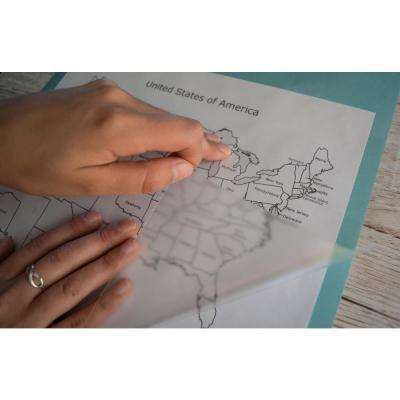 26 in. x 78 in. Glossy Transparent Self-adhesive Vinyl Film for Protecting Books/Maps and Surfaces