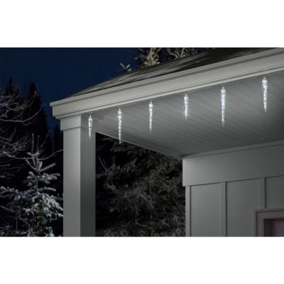 48-Light White Shooting Star Icicle LED String Light (8-Count)