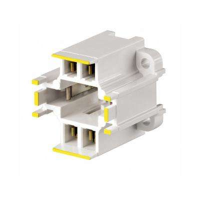 75W GX24q-4 Lamp Base 42W 4-Pin Screw-Down Compact Fluorescent Lampholder, White with Yellow