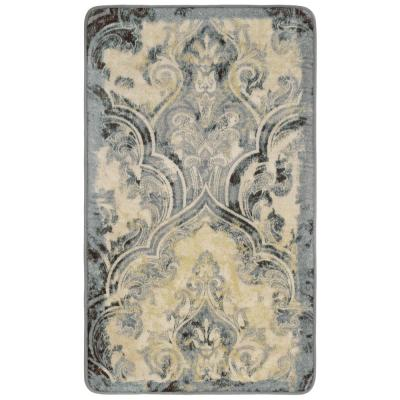 Daventry Taupe 2 ft. x 3 ft. High Definition Printed Memory Foam Area Rug