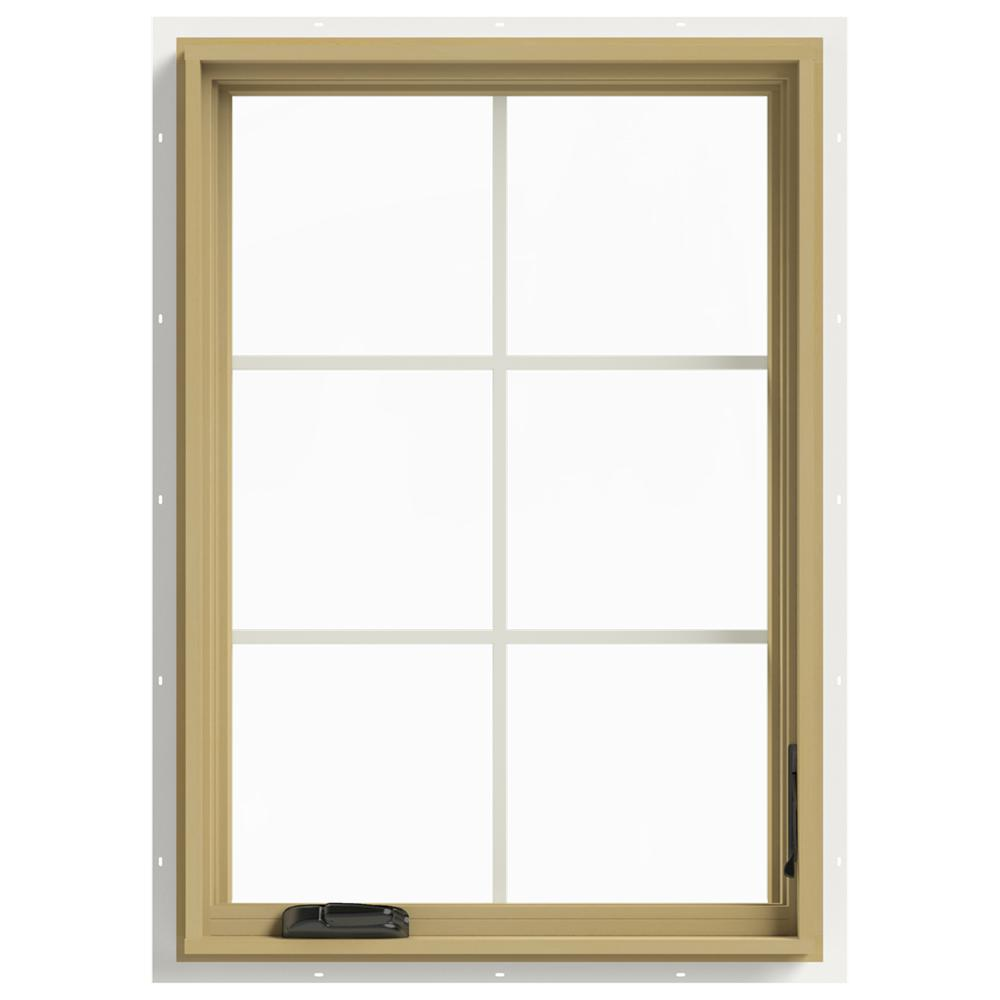 Jeld wen 28 in x 40 in w 2500 right hand casement for Buy jeld wen windows online
