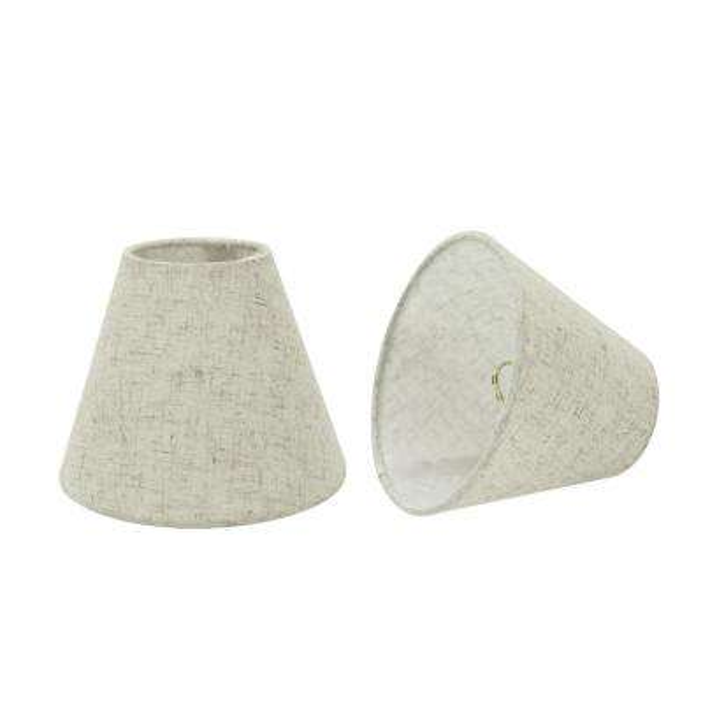 6 in. x 5 in. Off White Hardback Empire Lamp Shade (2-Pack)
