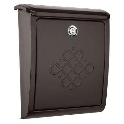 Bordeaux Locking Rubbed Bronze Wall Mount Mailbox