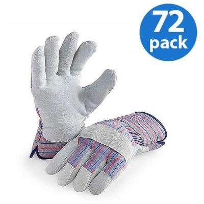 72-Pair Value Pack, Genuine Suede Leather Palm Work Glove
