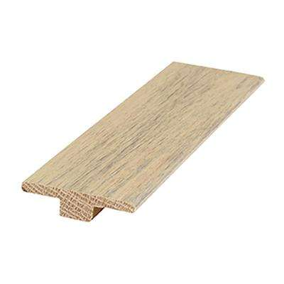 Nautical Oak 0.56 in. Thick x 2 in. Wide x 84 in. Length T-Mold Hardwood Molding