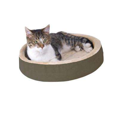 Thermo-Kitty Cuddle Up Small Mocha Heated Cat Bed