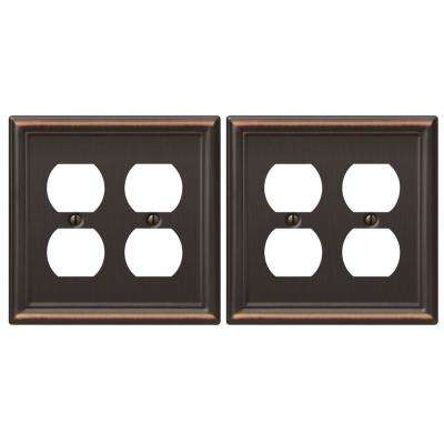 Chelsea 2 Duplex Wall Plate in Aged Bronze (2-Pack)