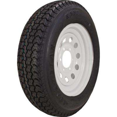 ST225/75D-15 K550 BIAS 2540 lb. Load Capacity White Without Stripe 15 in. Bias Tire and Wheel Assembly
