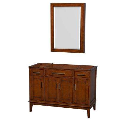 Hatton 47 in. Vanity Cabinet with Mirror Medicine Cabinet in Light Chestnut