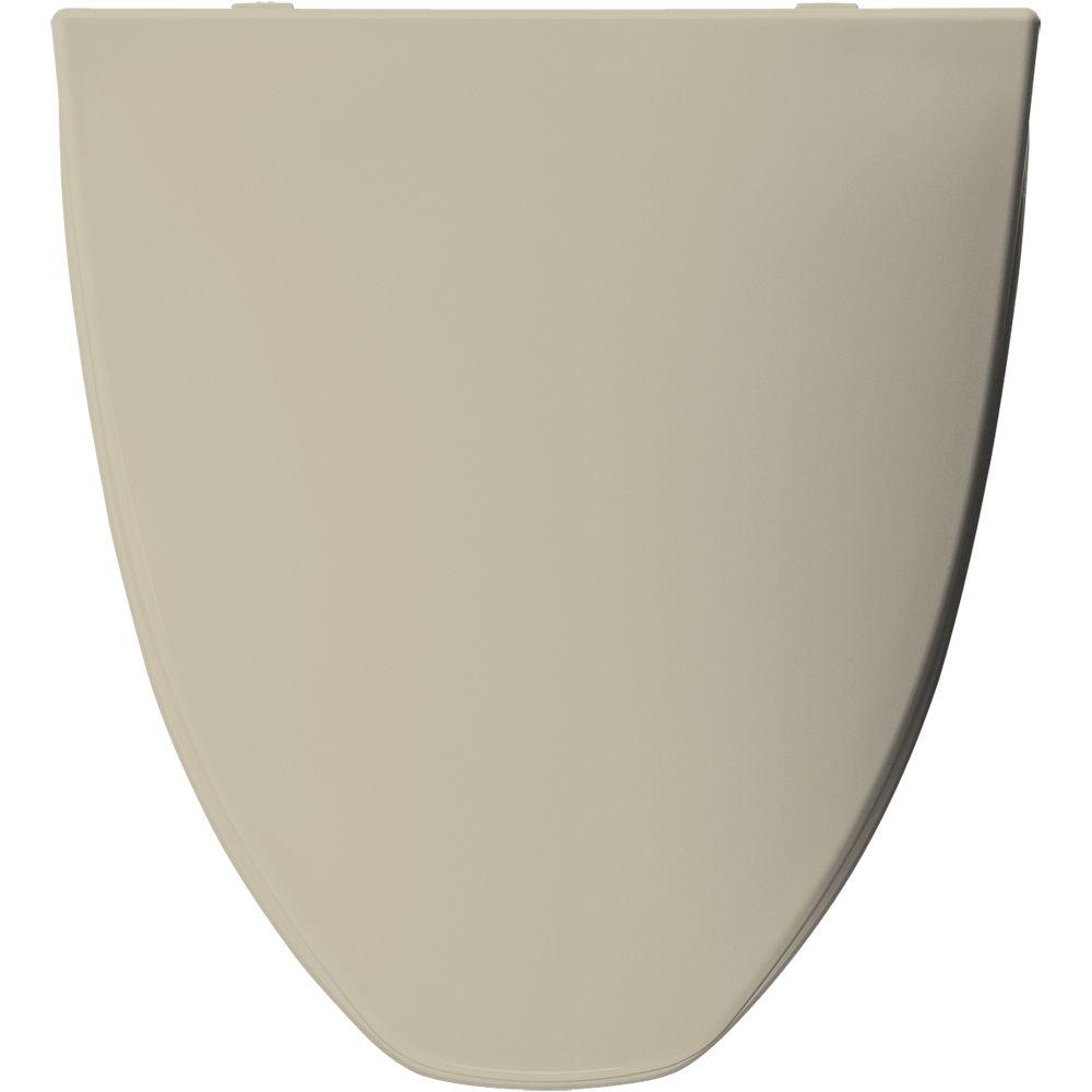Bemis Church Elongated Closed Front Toilet Seat in Bone (...