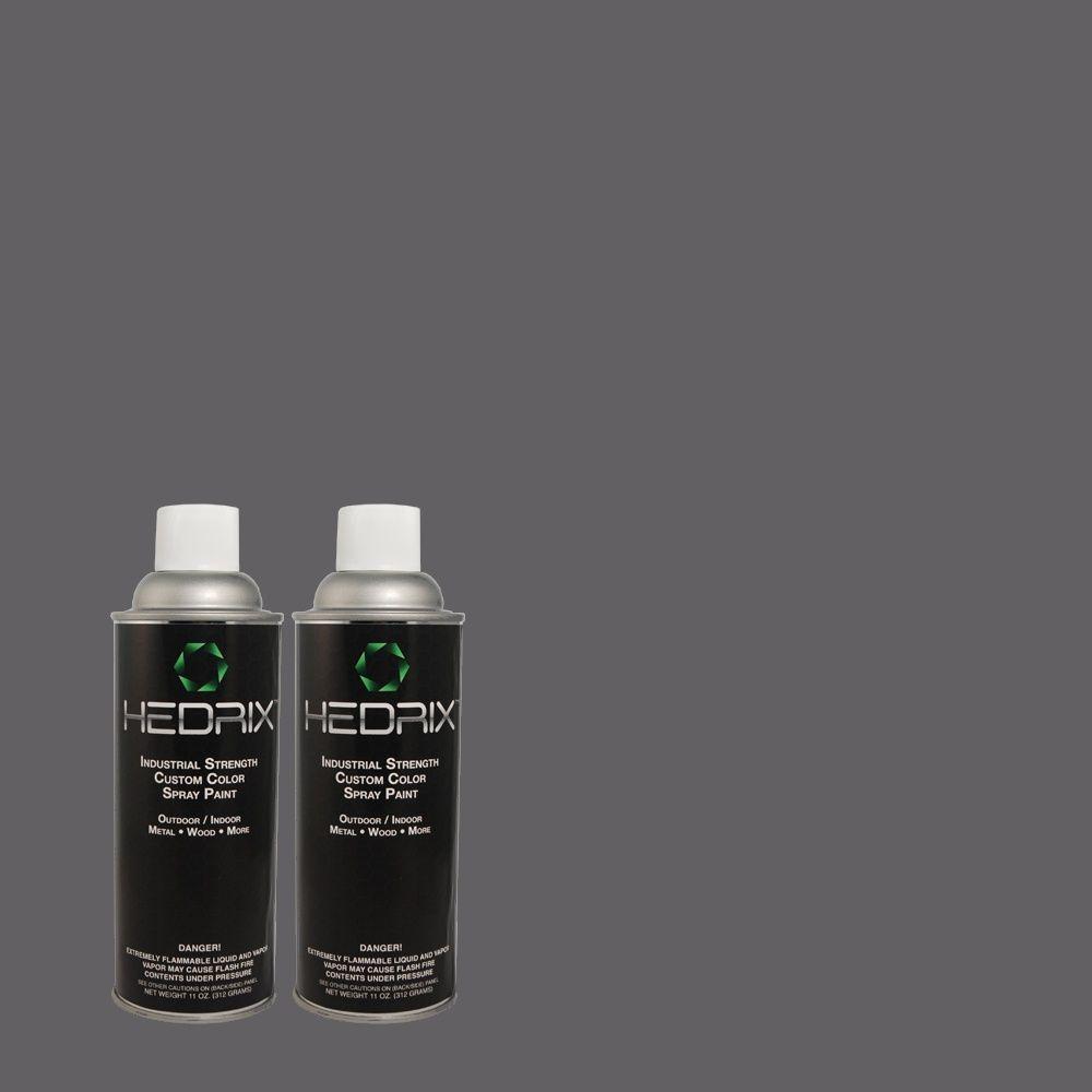 Hedrix 11 oz. Match of QE-55 Harbour Low Lustre Custom Spray Paint (8-Pack)