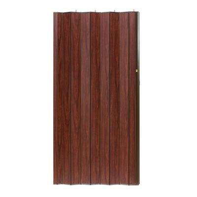 48 in. x 80 in. Woodshire Vinyl-Laminated MDF Mahogany Accordion Door