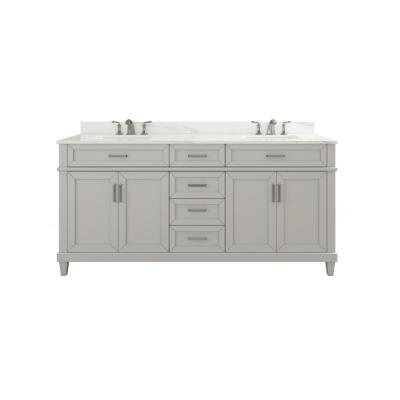 Talmore 60 in. Double Vanity in Sky Grey with Vanity Top with White Basin