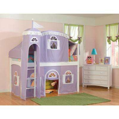 Wood Girls Loft Bed Bunk Loft Beds Kids Bedroom Furniture