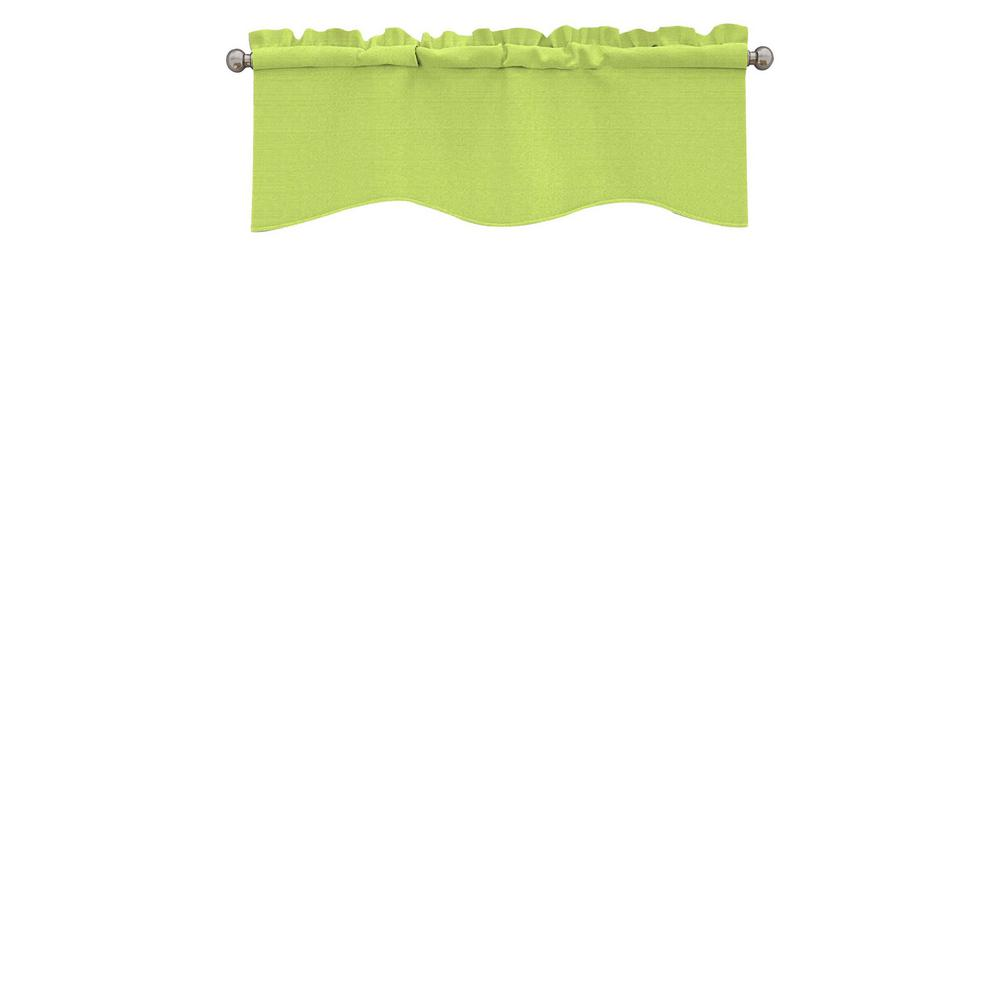 Eclipse Kendall Blackout Wave Window Valance in Lime - 42 in. W x 18 in. L