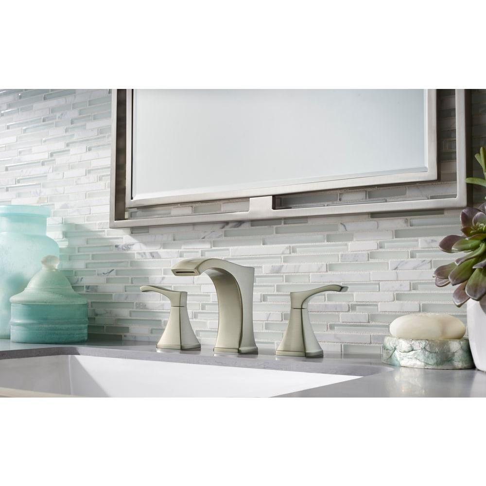 Widespread 2-Handle Bathroom Faucet in Spot Defense Brushed Nickel Venturi 8 in