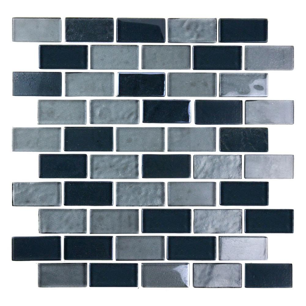 Landscape Black Gray Mix Translucent 10.75 in. x 10.125 in. x
