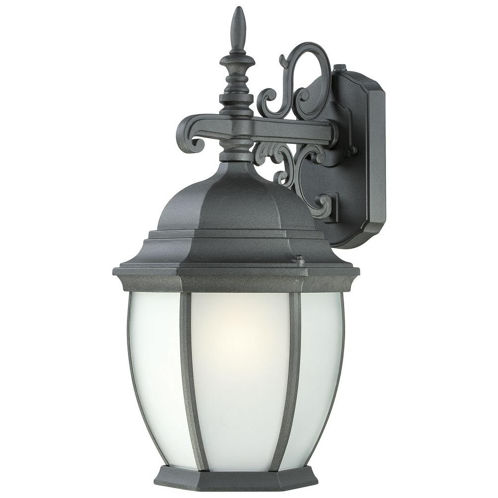 Thomas Lighting Covington 1-Light Black Outdoor Wall-Mount Lantern