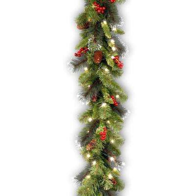 9 ft. Crestwood Spruce Garland with Clear Lights