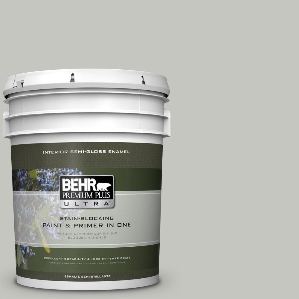 5 gal. #PPU24-16 Titanium Semi-Gloss Enamel Interior Paint