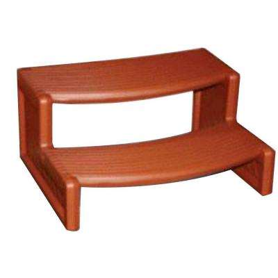 29 in. W x 14 in. H Hot Tub Steps in Redwood