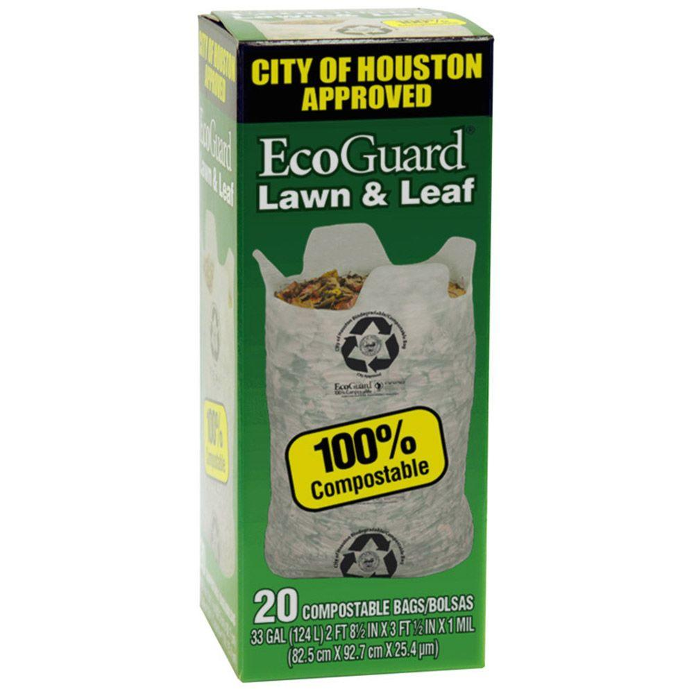 City Of Houston Lawn And Leaf Bags 20 Count