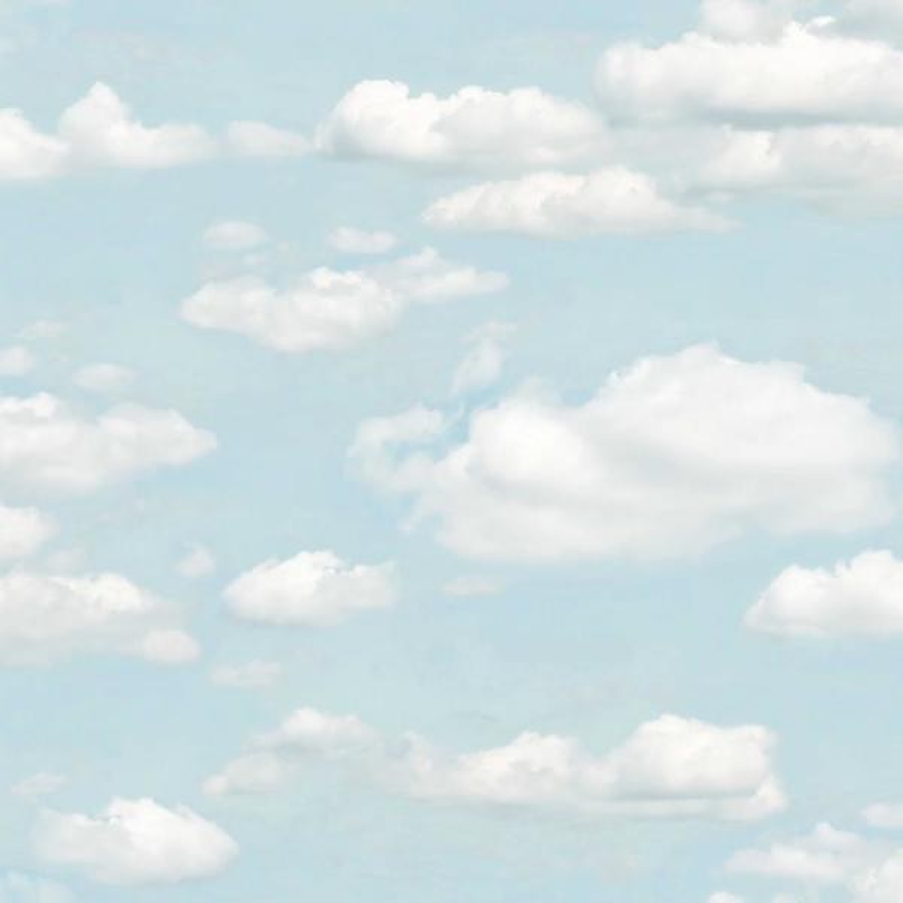 Brewster Bath Blue Clouds Wallpaper Sample 2734 24890sam