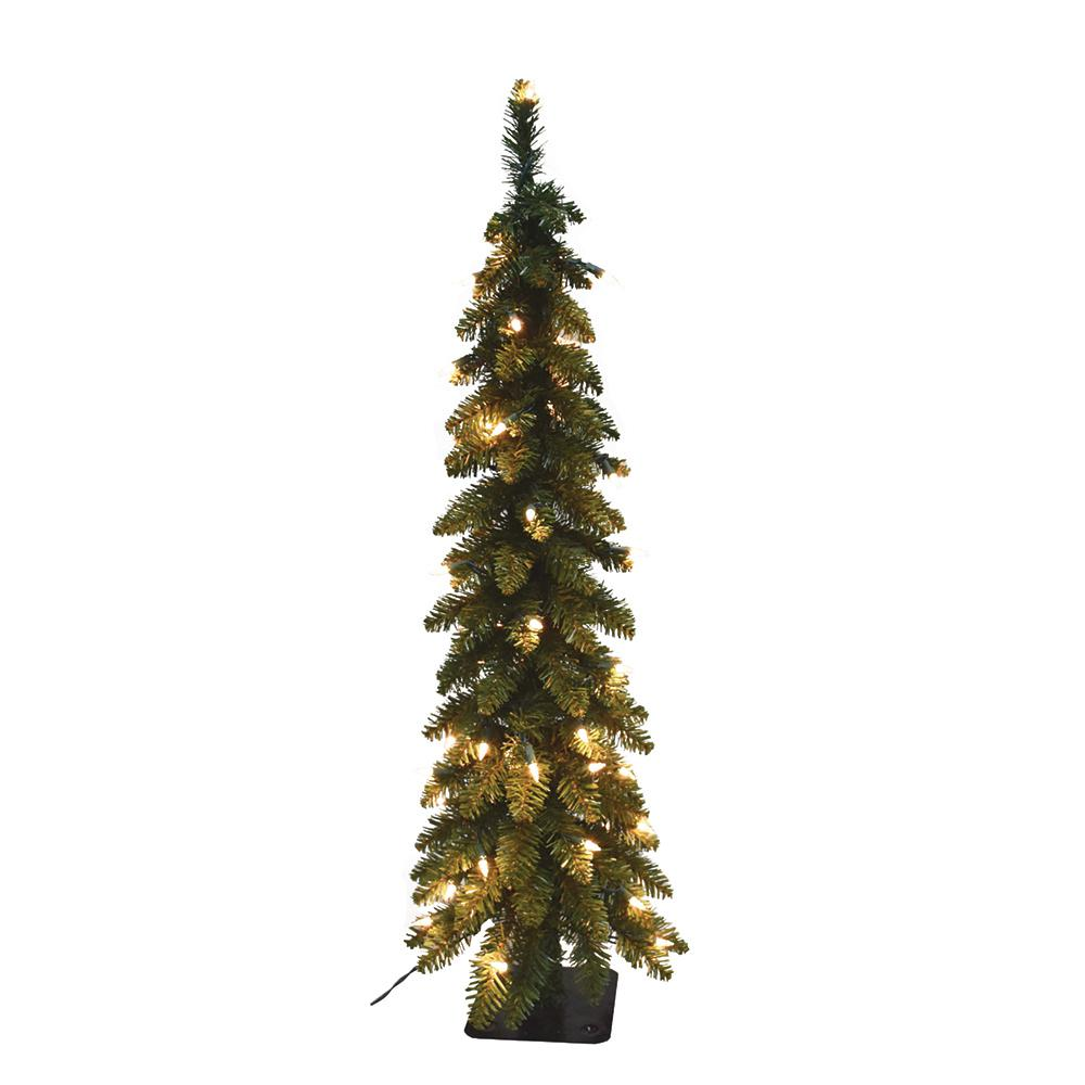 Pre Lit Pencil Slim Artificial Christmas Tree With 105 Ul Lights