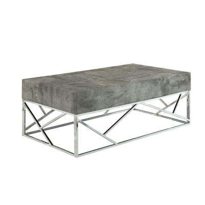 Burgo Faux Marble and Chrome Coffee Table