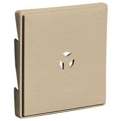 6.625 in. x 6.625 in. #013 Light Almond Triple 3 Surface Universal Mounting Block