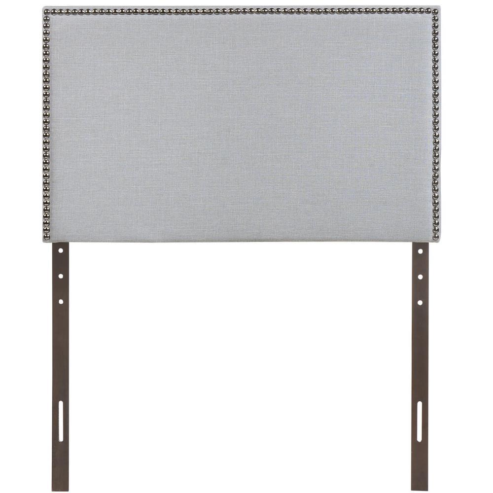 Region Sky Gray Twin Nailhead Upholstered Headboard