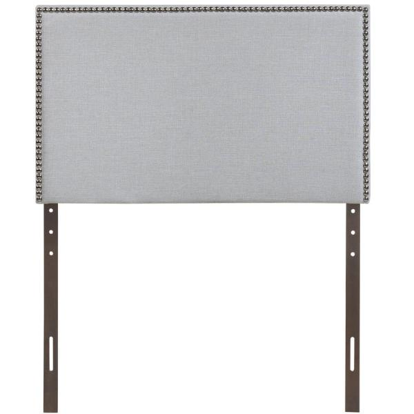 Region Sky Gray Twin Nailhead Upholstered Headboard