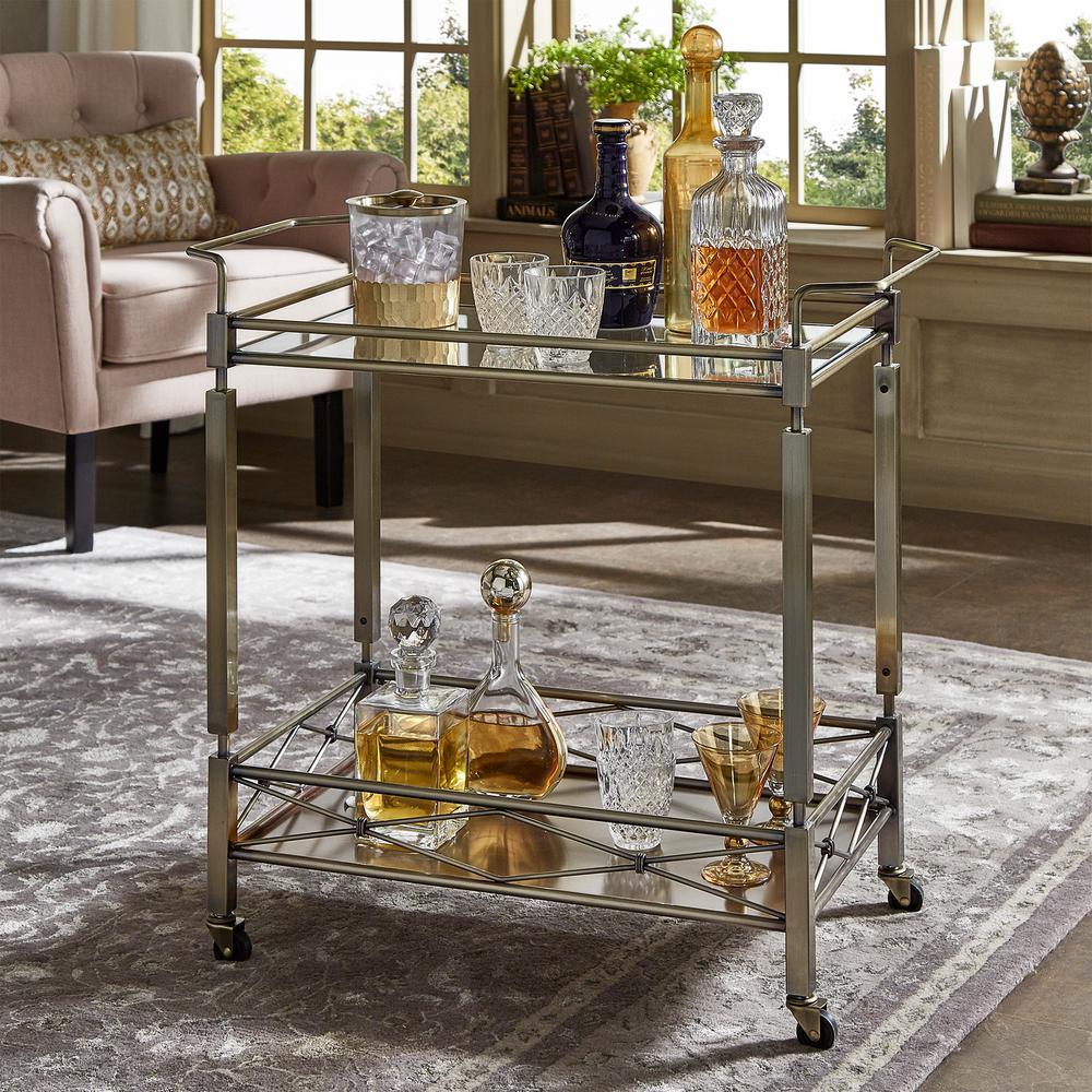 Anise Antique Brass Bar Cart