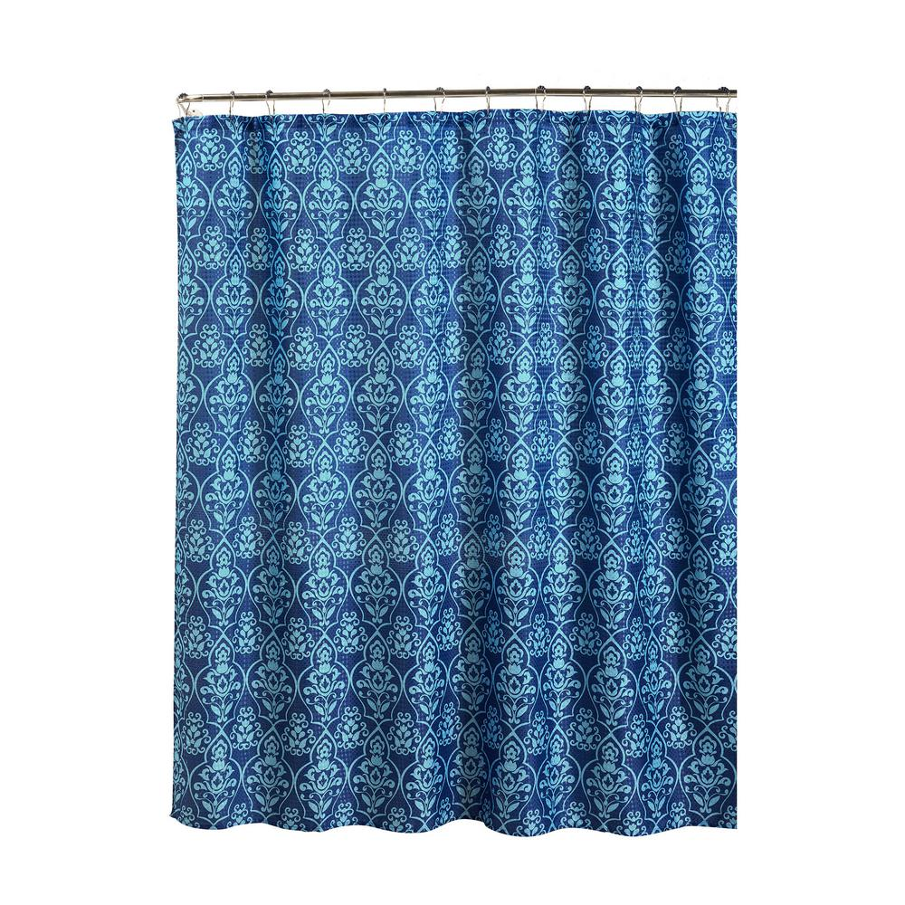 Creative Home Ideas Oxford Weave Textured 70 in. W x 72 in. L Shower ...