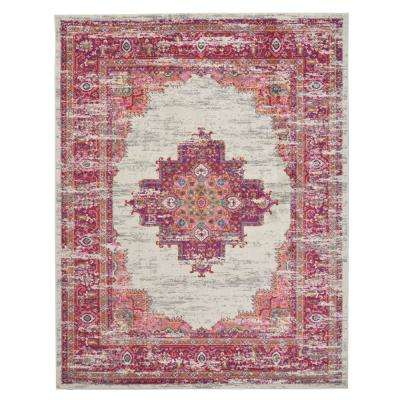 Passion Ivory/Fuchsia 8 ft. x 10 ft. Area Rug