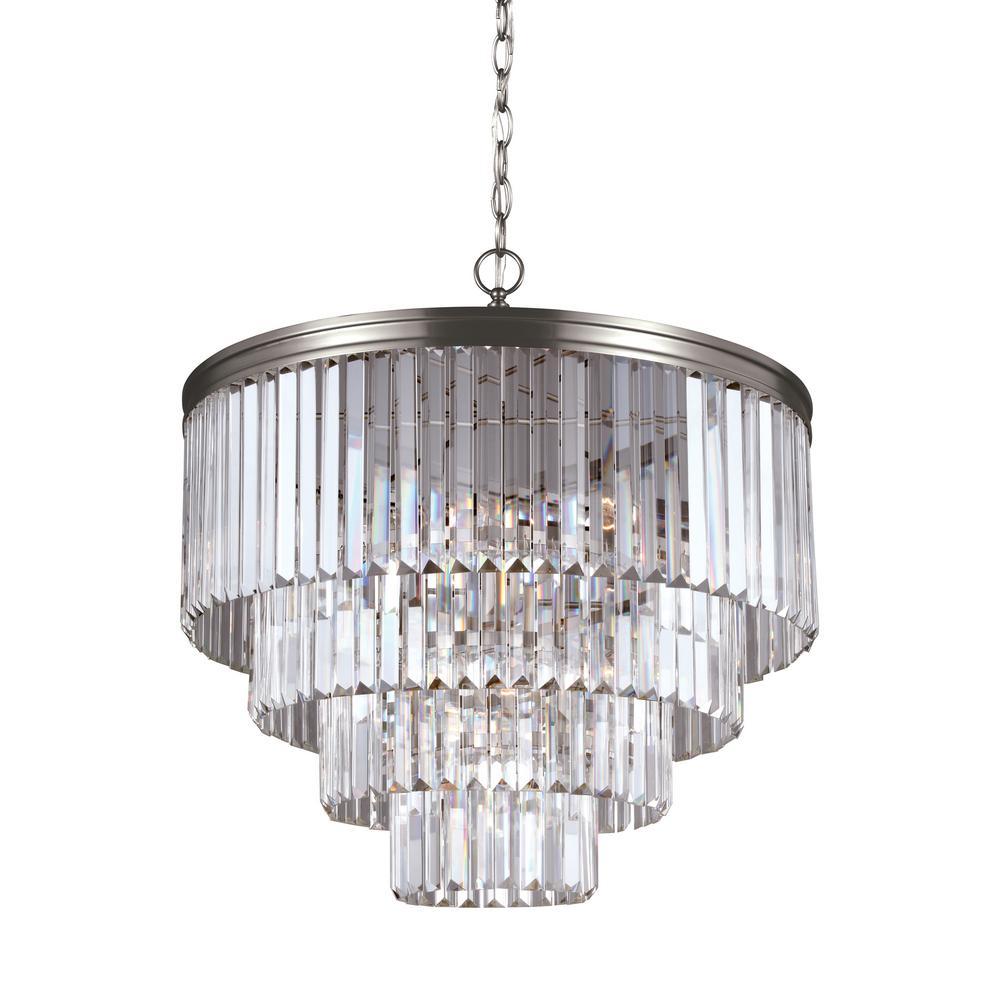 Carondelet 6-Light Antique Brushed Nickel Chandelier with LED Bulbs