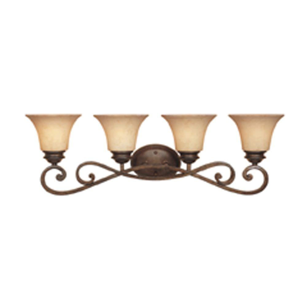 Designers Fountain Mendocino 4-Light Forged Sienna Wall Light