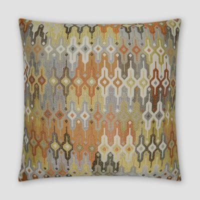 Regla Saffron Geometric Down 20 in. x 20 in. Throw Pillow