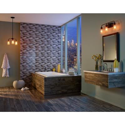 Madison Avenue Interlocking 12 in. x 12 in. x 8mm Glass Metal Mosaic Wall Tile (1 sq. ft.)