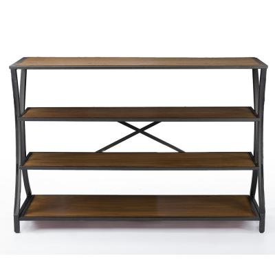 Lancashire 49 in. Brown Standard Rectangle Wood Console Table with Storage