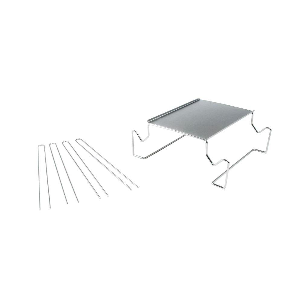 Charcoal Companion Stainless Steel S'mores Roasting Rack with Skewers