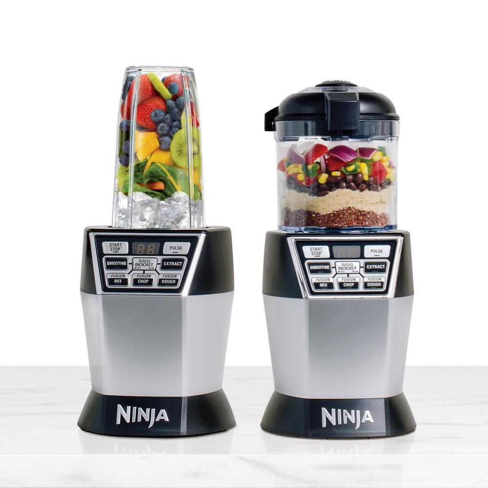 Nutri Ninja Nutri Bowl DUO with Auto-iQ Boost, Black Stainless
