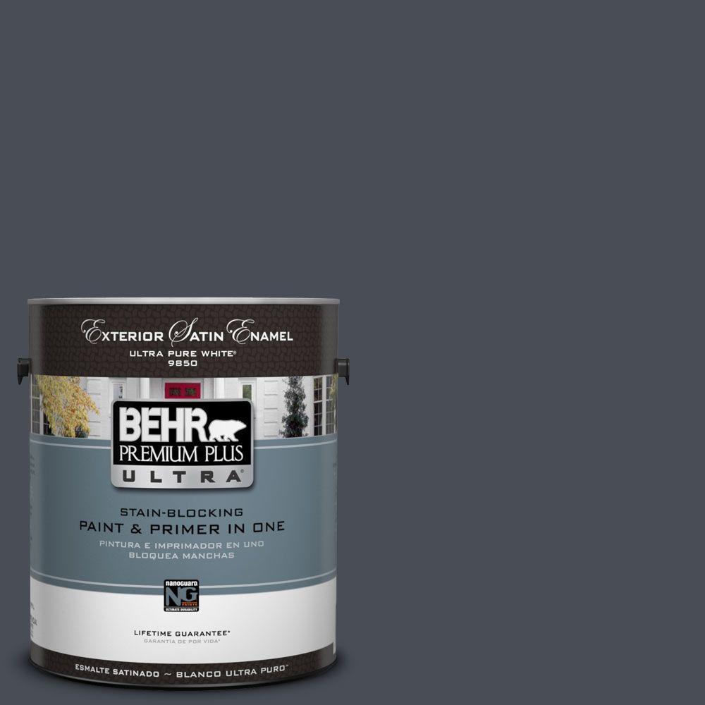 BEHR Premium Plus Ultra 1-Gal. #UL260-23 Poppy Seed Satin Enamel Exterior Paint