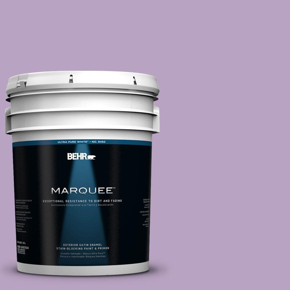 BEHR MARQUEE 5-gal. #660D-4 Lilac Rose Satin Enamel Exterior Paint